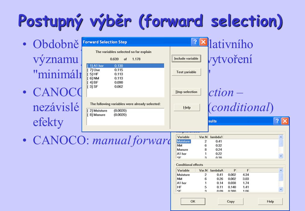Postupný výběr (forward selection)