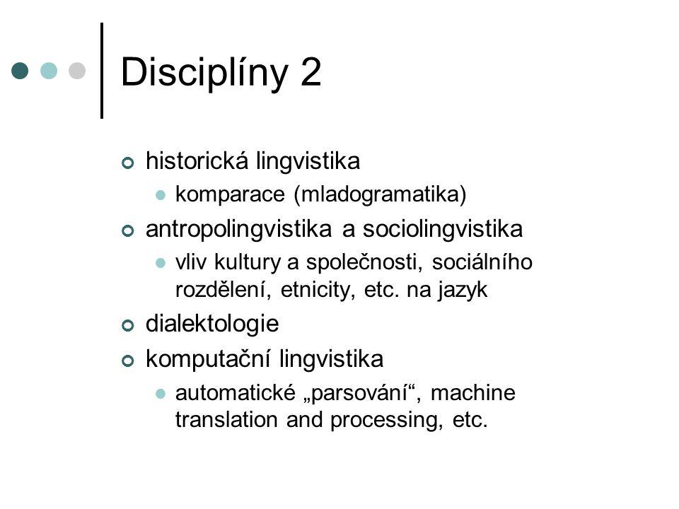 Disciplíny 2 historická lingvistika
