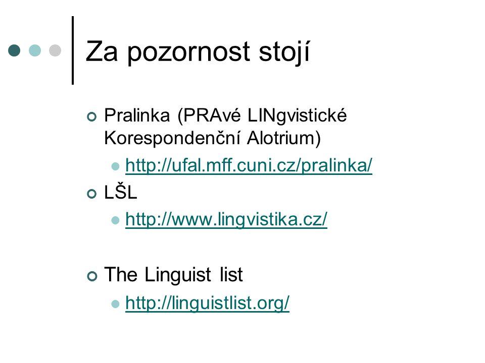 Za pozornost stojí The Linguist list