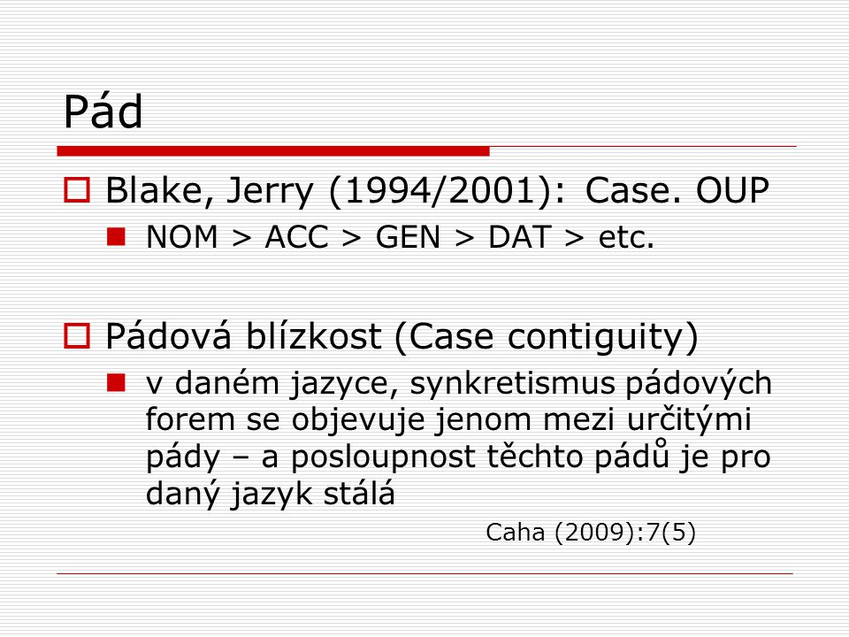 Pád Blake, Jerry (1994/2001): Case. OUP