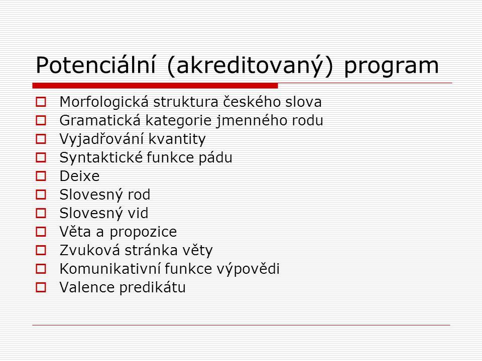 Potenciální (akreditovaný) program