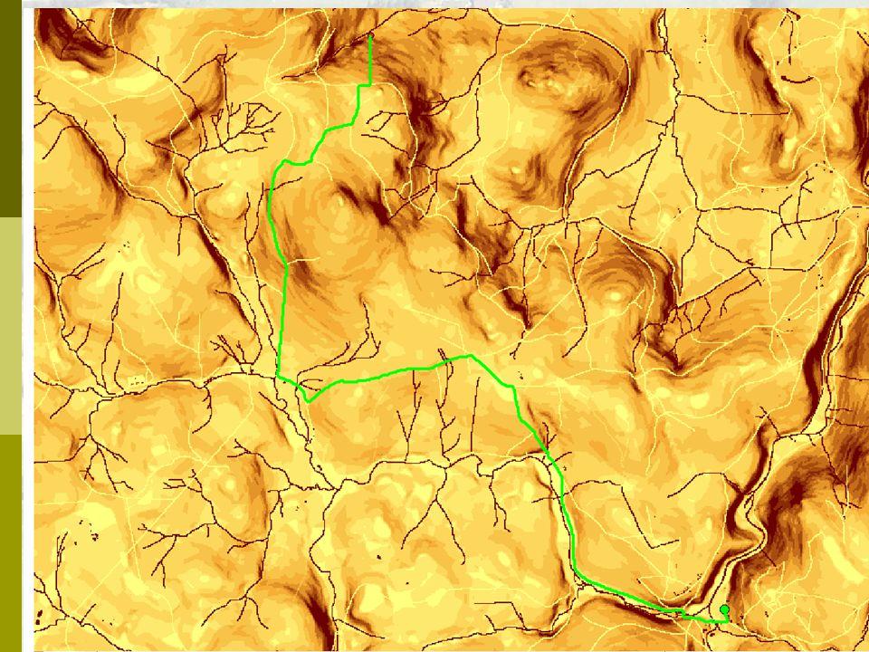 Vážená vzdálenost ! zachycuje i ostatní faktory kromě přímé vzdálenosti. vliv terénu (horizontální faktor)