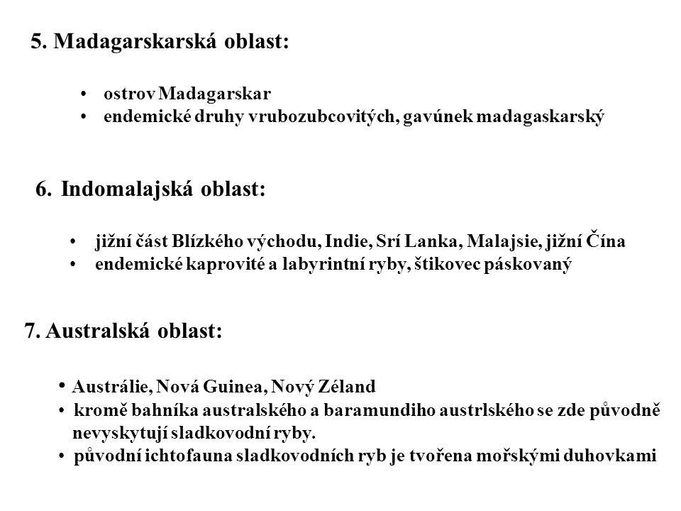 5. Madagarskarská oblast: