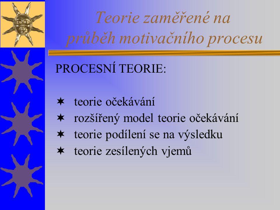Teorie zaměřené na průběh motivačního procesu