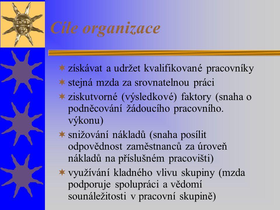Cíle organizace získávat a udržet kvalifikované pracovníky