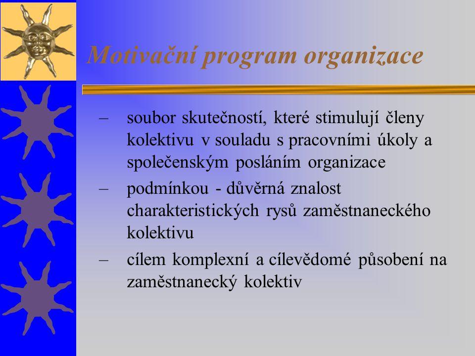 Motivační program organizace