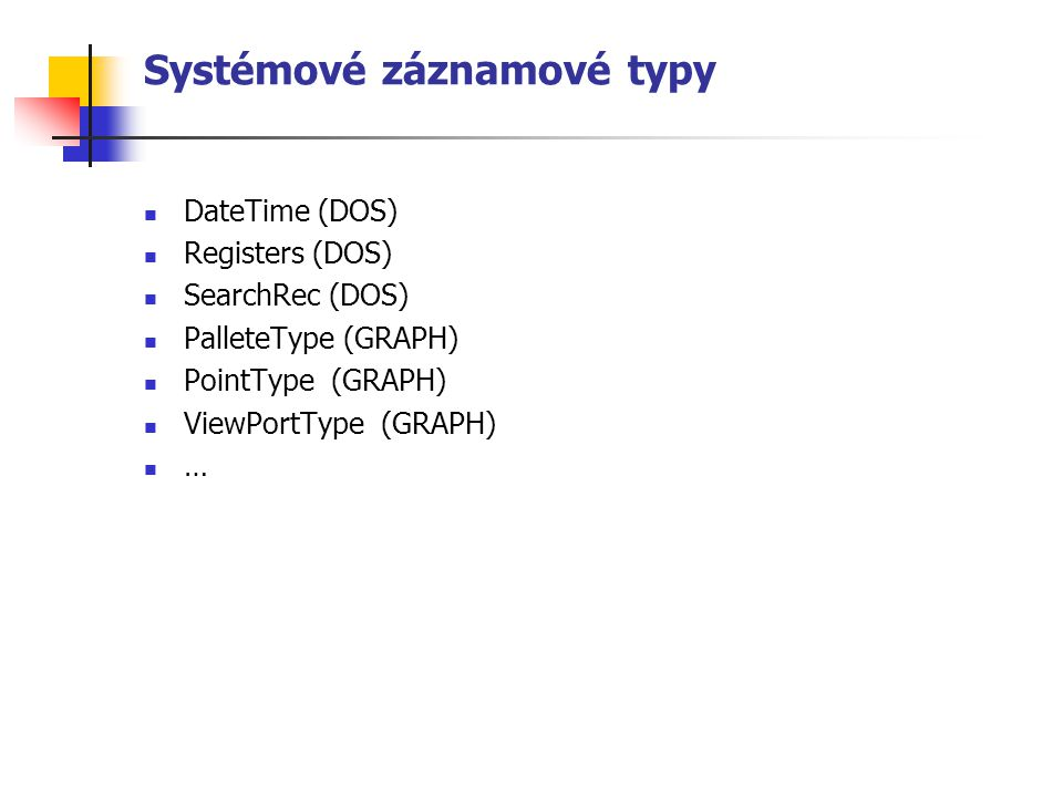 Systémové záznamové typy