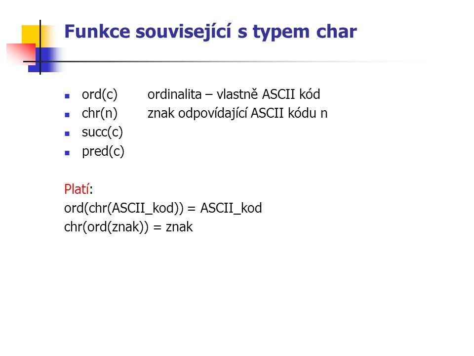 Funkce související s typem char