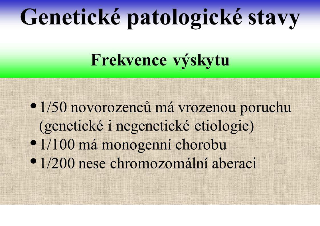 Genetické patologické stavy