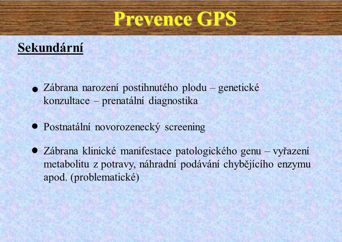 Prevence GPS Sekundární