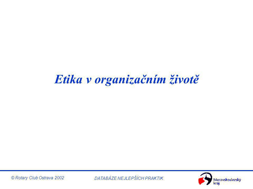 Etika v organizačním životě