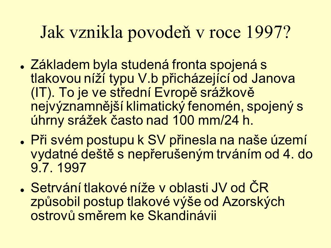 Jak vznikla povodeň v roce 1997