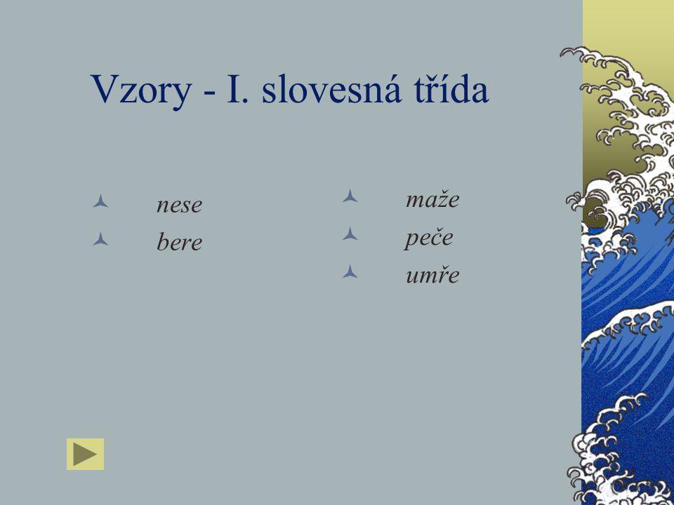 Vzory - I. slovesná třída