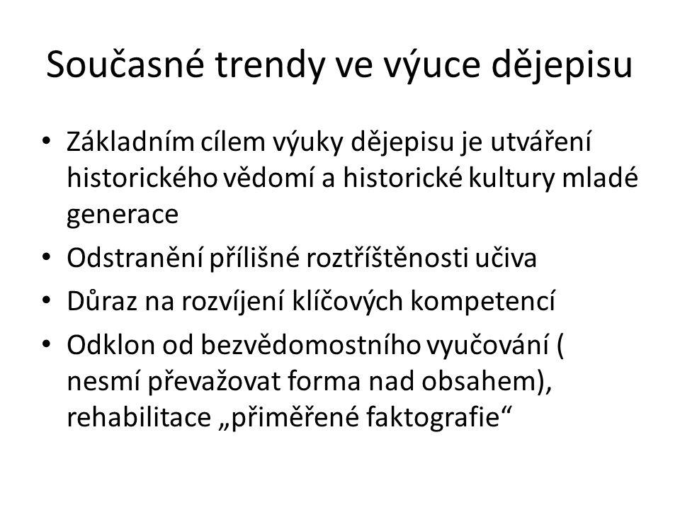 Současné trendy ve výuce dějepisu
