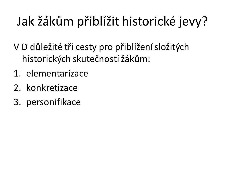 Jak žákům přiblížit historické jevy
