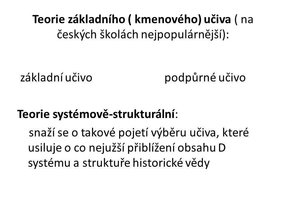 Teorie základního ( kmenového) učiva ( na českých školách nejpopulárnější):