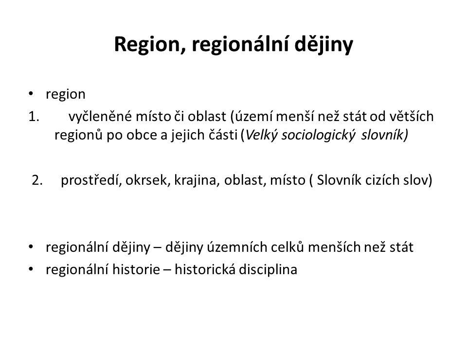 Region, regionální dějiny