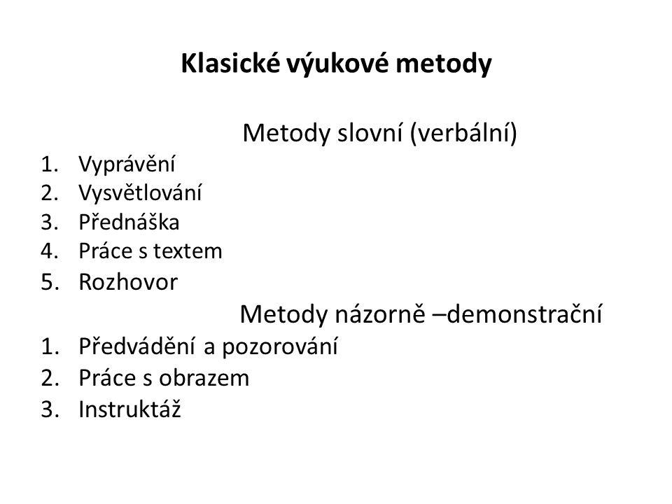 Klasické výukové metody