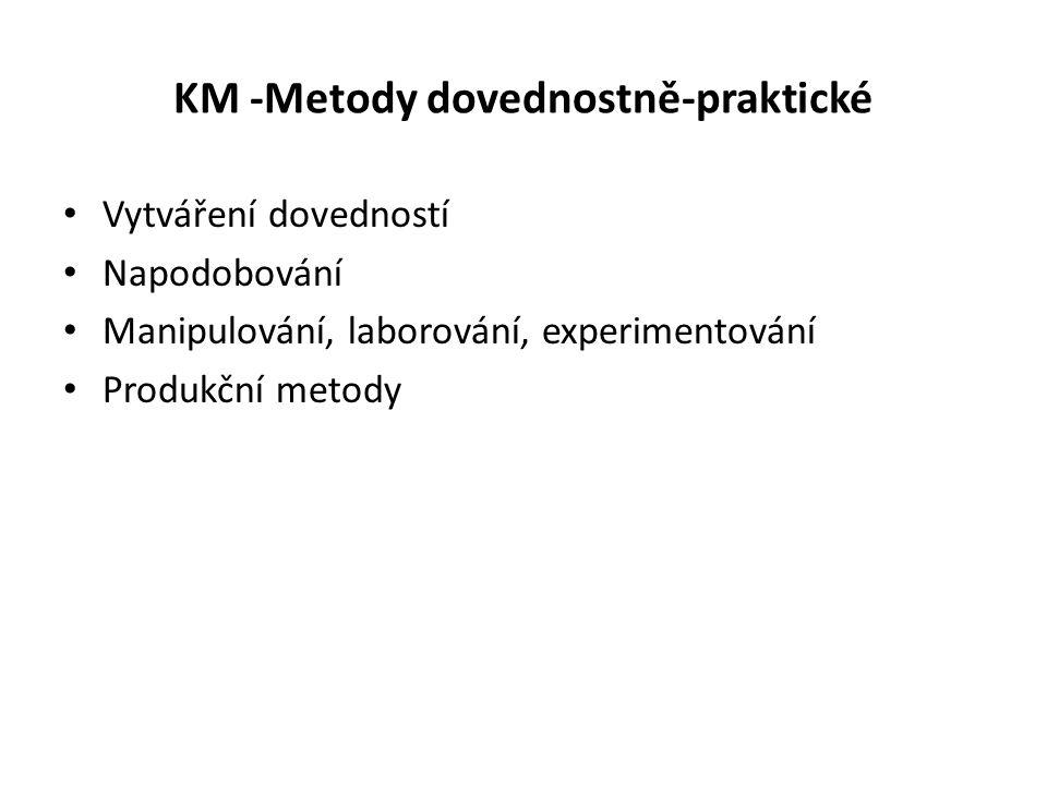 KM -Metody dovednostně-praktické