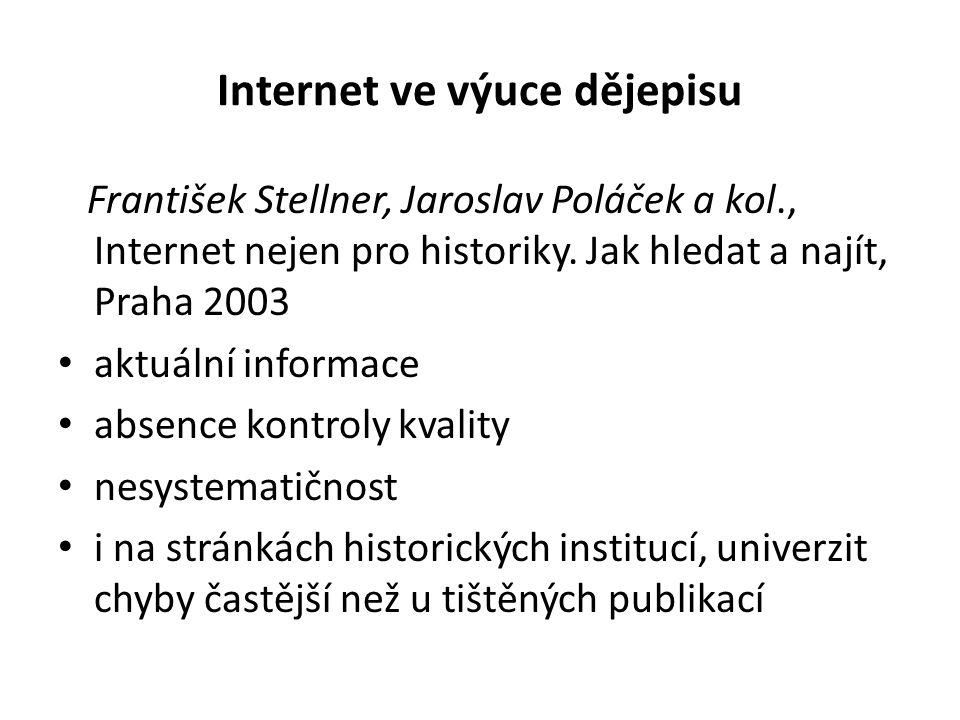 Internet ve výuce dějepisu