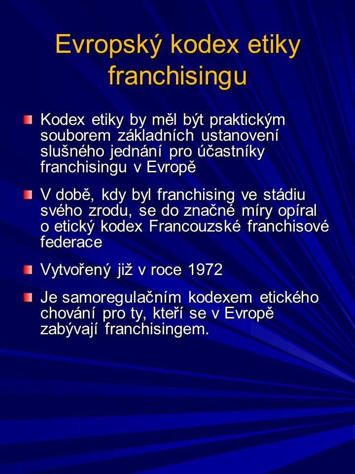 Evropský kodex etiky franchisingu