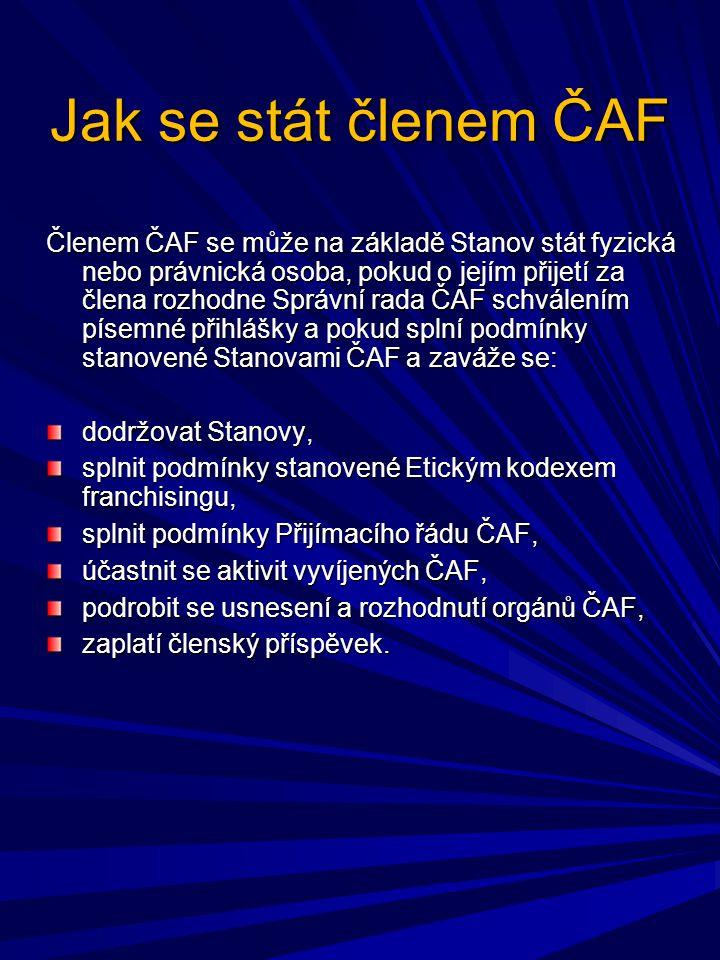 Jak se stát členem ČAF