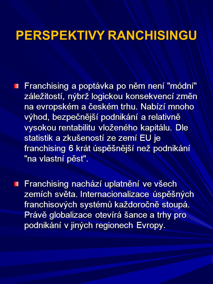 PERSPEKTIVY RANCHISINGU