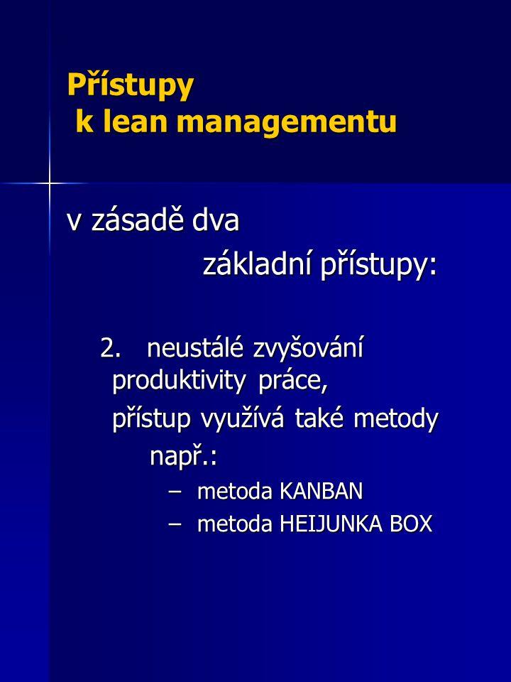 Přístupy k lean managementu