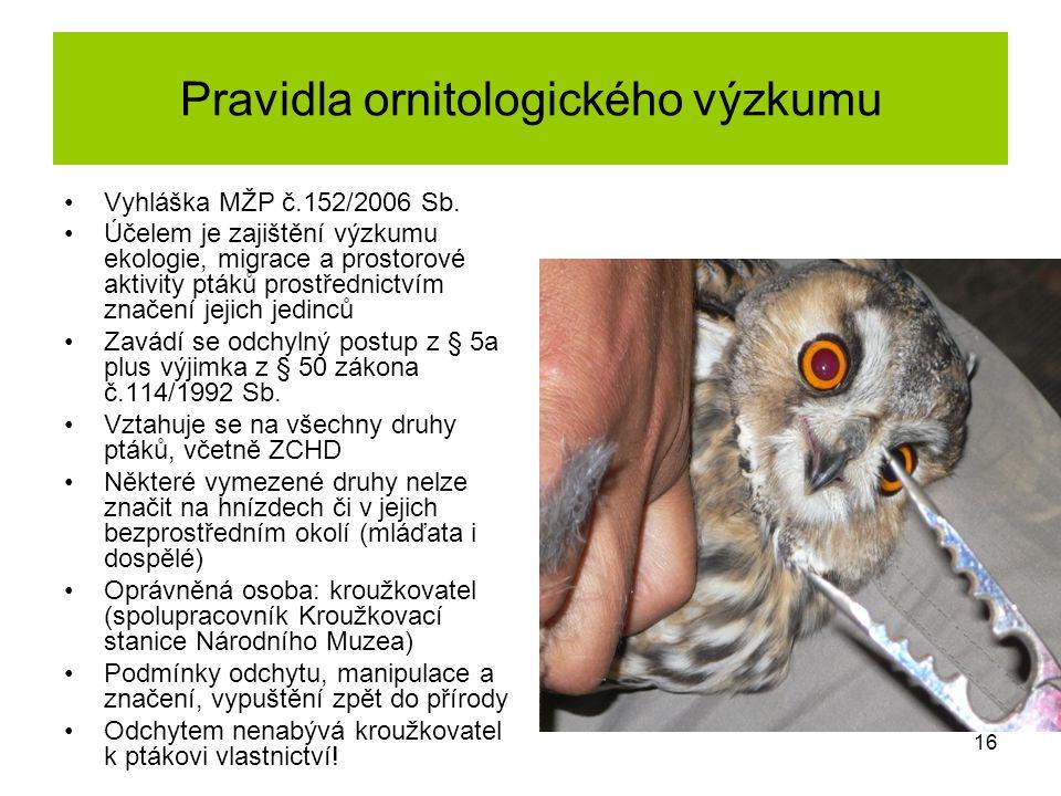 Pravidla ornitologického výzkumu