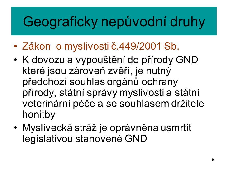 Geograficky nepůvodní druhy