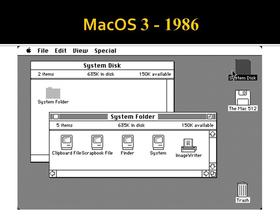 MacOS 3 - 1986
