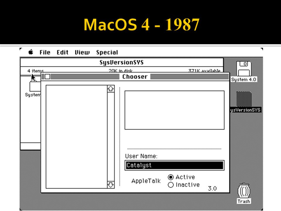 MacOS 4 - 1987