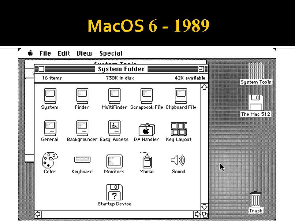 MacOS 6 - 1989