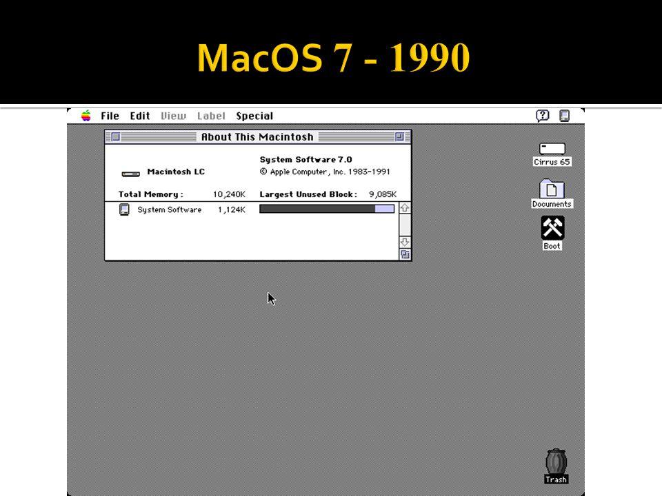 MacOS 7 - 1990