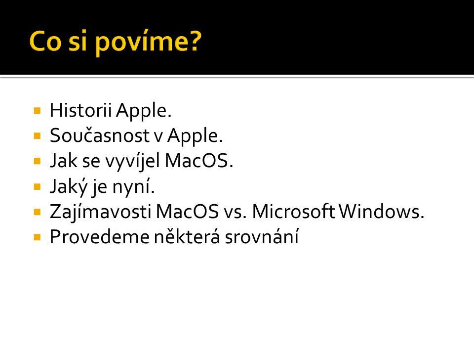 Co si povíme Historii Apple. Současnost v Apple.