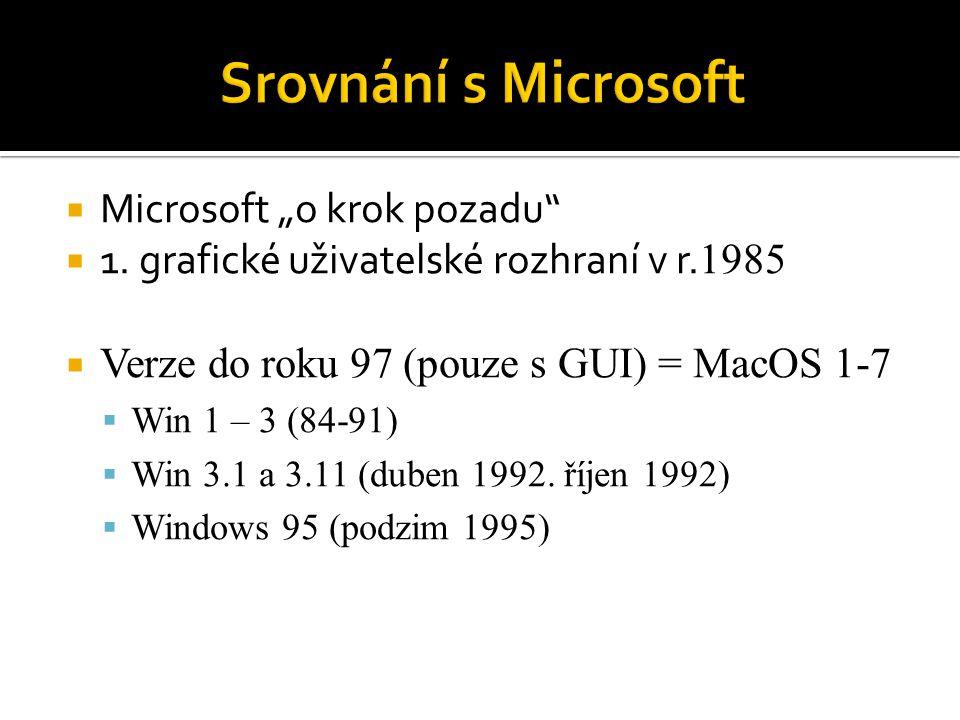 """Srovnání s Microsoft Microsoft """"o krok pozadu"""