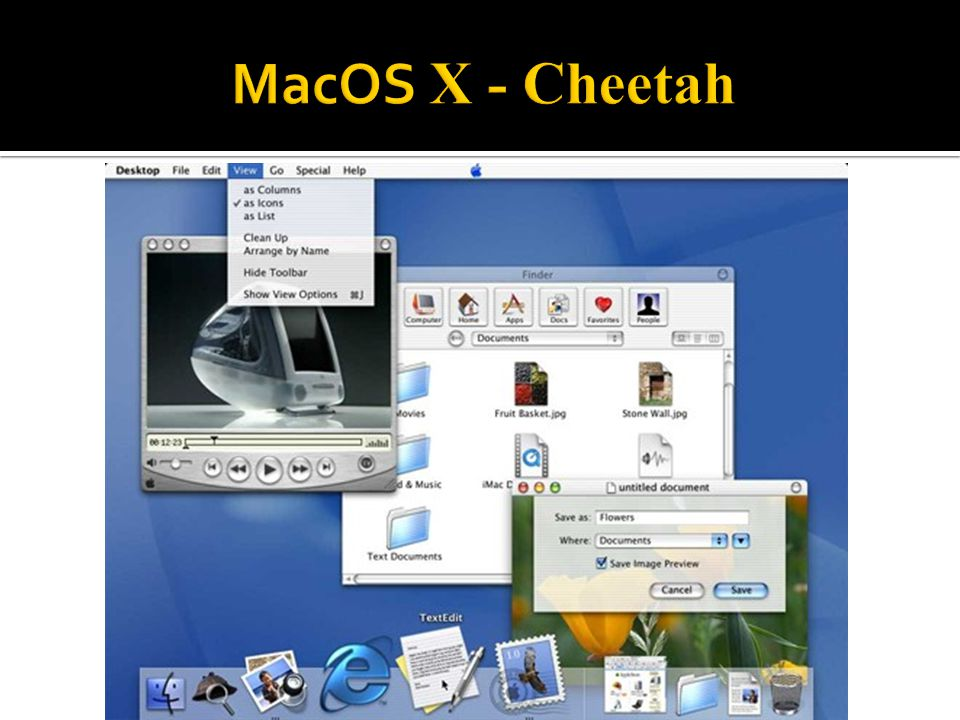 MacOS X - Cheetah