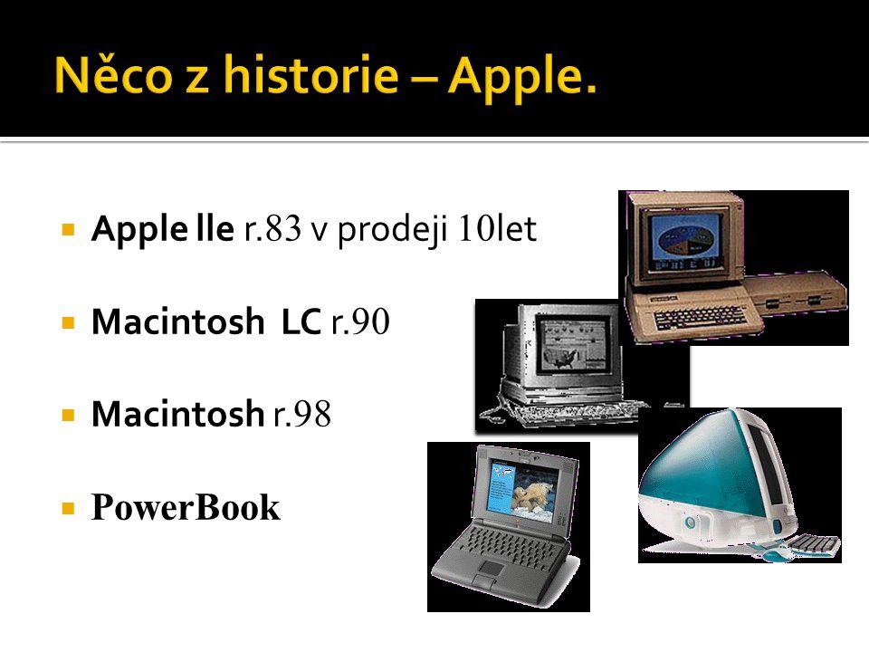 Něco z historie – Apple. Apple lle r.83 v prodeji 10let