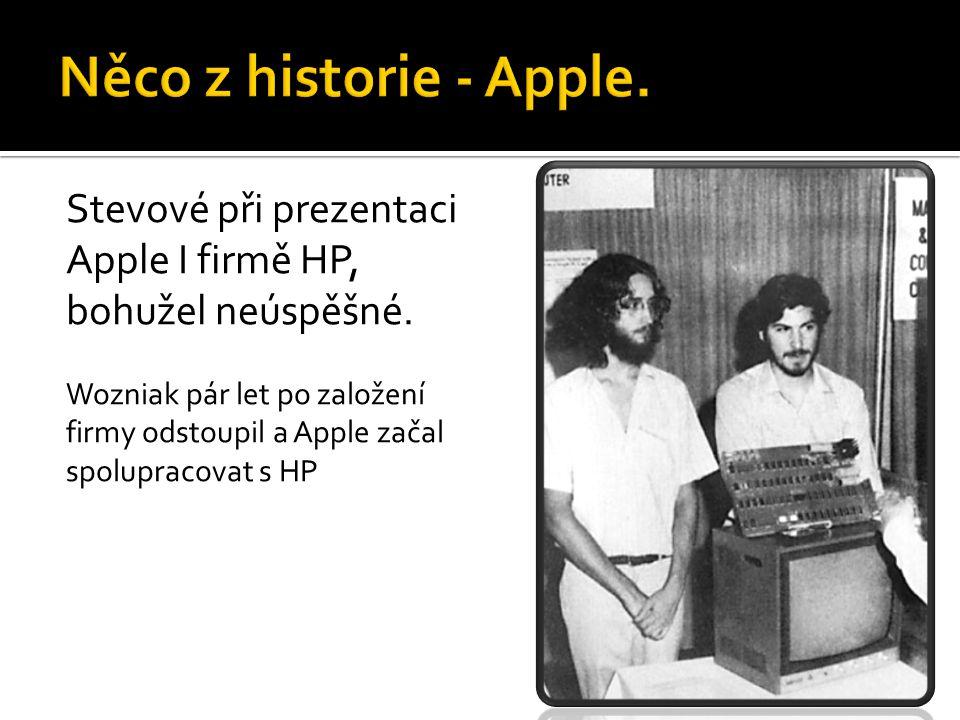 Něco z historie - Apple. Stevové při prezentaci Apple I firmě HP,