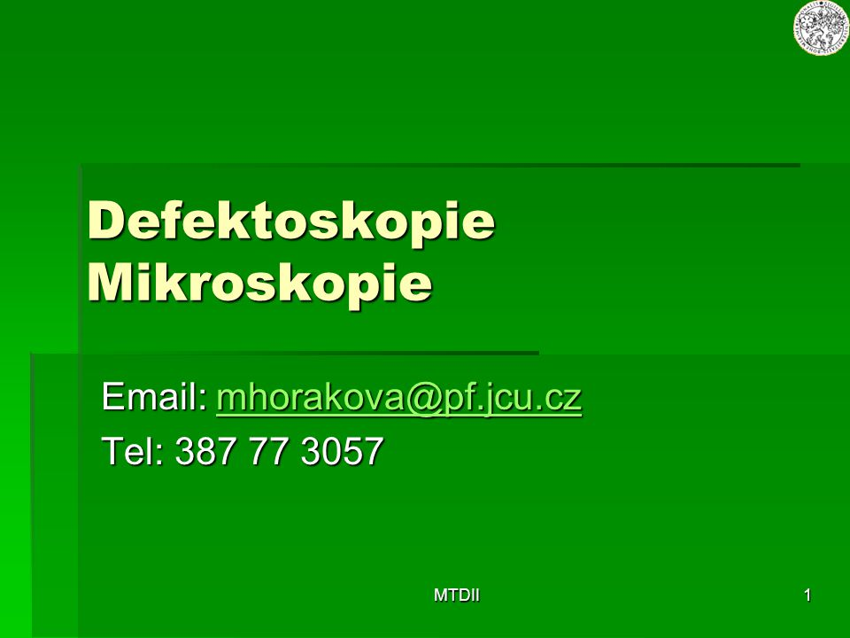 Defektoskopie Mikroskopie