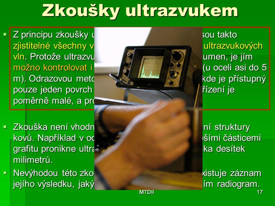 Zkoušky ultrazvukem