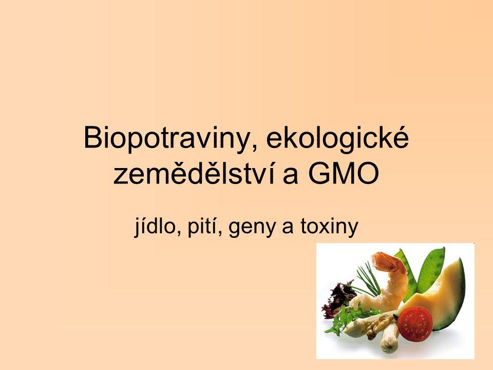 Biopotraviny, ekologické zemědělství a GMO