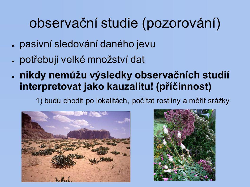 observační studie (pozorování)