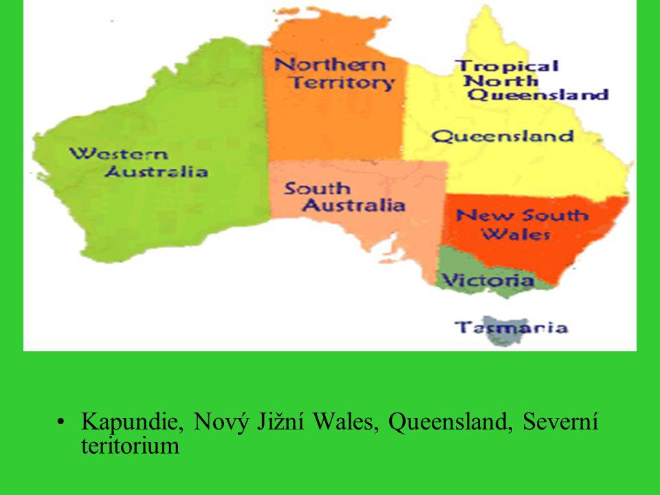 Kapundie, Nový Jižní Wales, Queensland, Severní teritorium