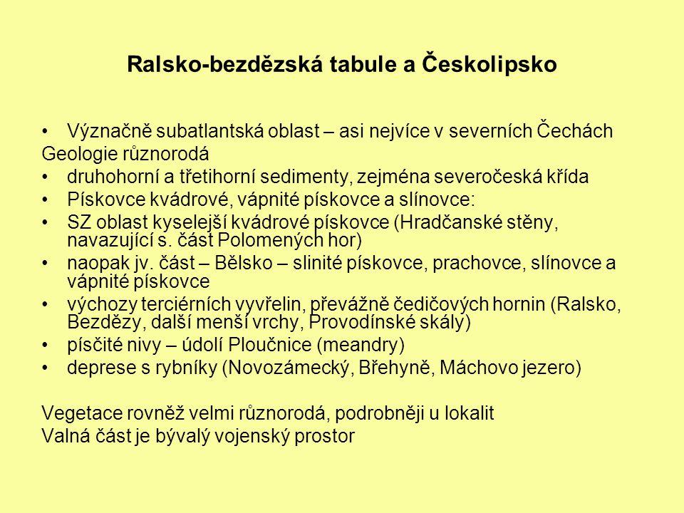 Ralsko-bezdězská tabule a Českolipsko