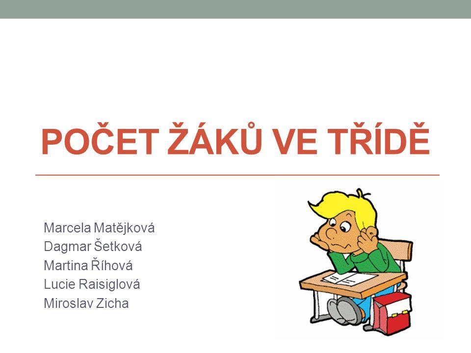 Počet žáků ve třídě Marcela Matějková Dagmar Šetková Martina Říhová
