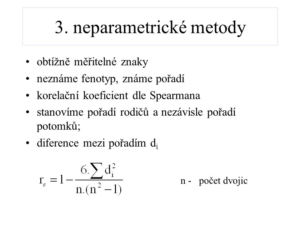 3. neparametrické metody