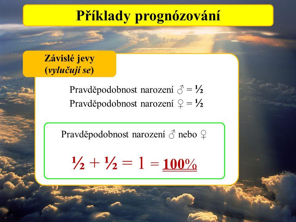 Příklady prognózování Závislé jevy (vylučují se)