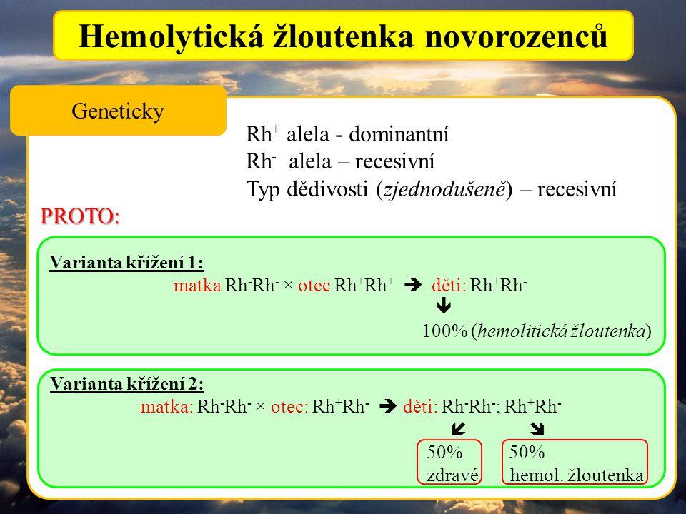 Hemolytická žloutenka novorozenců