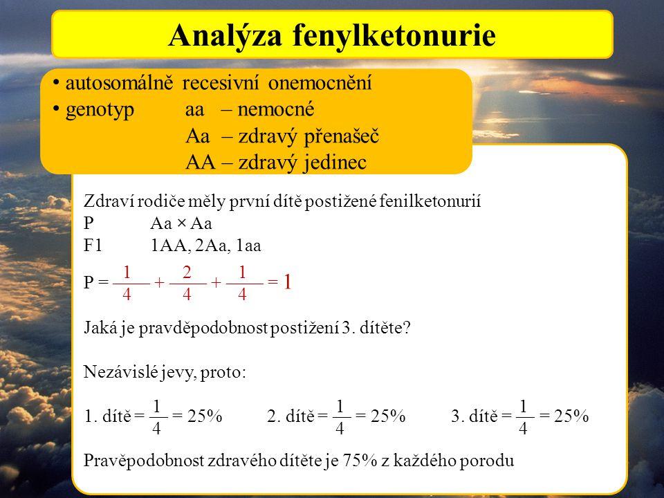 Analýza fenylketonurie